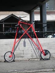 MIT bicycle (alist) Tags: red bike bicycle boston mit wheels tall build 02139