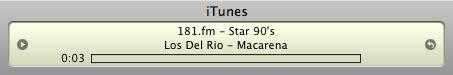 La Macarena de Los del Río sonando en iTunes