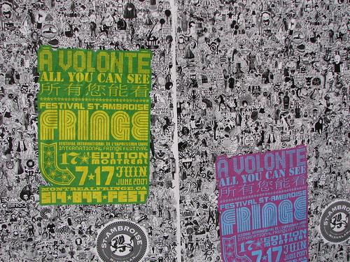 Montreal Fringe festival poster