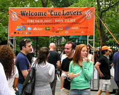 Big Apple BBQ Welcome sign