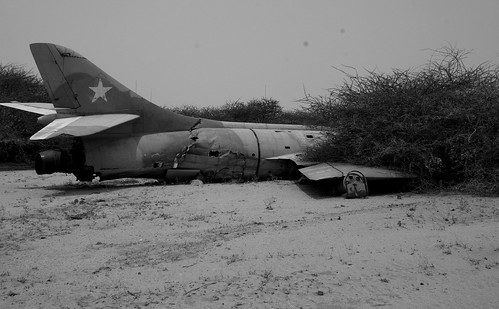 MIG fighter in Hargeisa