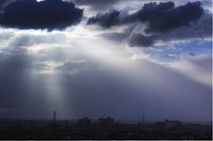 radiant blues (mugley) Tags: blue urban clouds landscape nikon industrial cityscape d70 australia melbourne victoria hdr 3xp lightfall tamronspaf90mmf28di