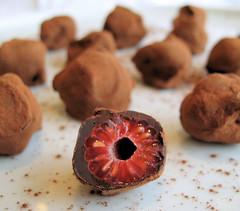 Raspberry truffles 2