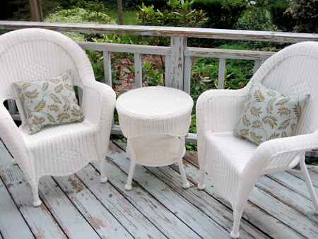 Hampton Bay Java wicker chairs from Home Depot