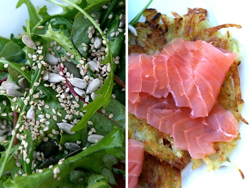 Puffer und Salat