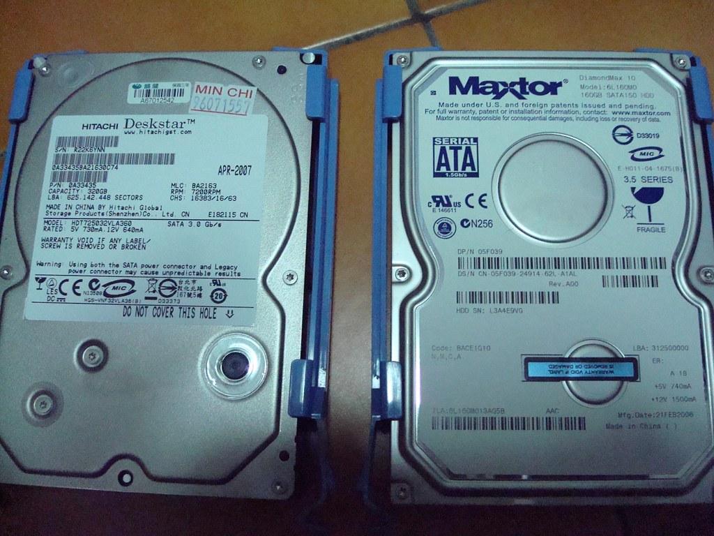 跟我的Maxtor 160GB