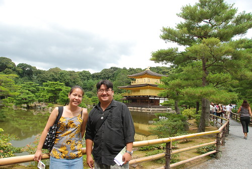 Lynn and Chris at Kinkakuji Temple