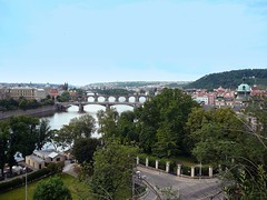 View of Prague from down river