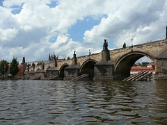 Cruising under the Charles Bridge, Prague