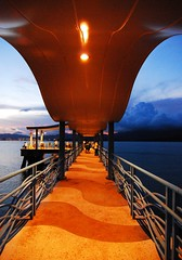 Pier @  Wu Kai Sha (PTsang) Tags: sunset sea sky cloud hongkong pier fishing lowlight nikon asia waterfront perspective tokina  1224 d80 wukaisha