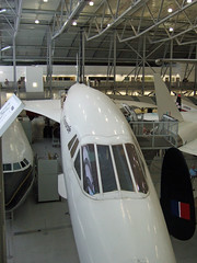 G-AXDN at Duxford-02 (SthLondonNick) Tags: uk england unitedkingdom aircraft concorde duxford cambridgeshire airliner bac supersonic imperialwarmuseum iwm sudaviation preproduction britishaircraftcorporation gaxdn aerospatile