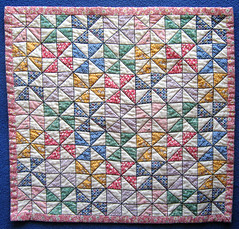Quilted Lovey (WendysKnitch) Tags: baby girl quilt quilting 30s lovey pinwheels cheater repro dollquilt miniquilt