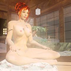 Nadine meditating