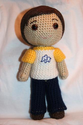Free Amigurumi Boy Doll Patterns : The amigurumi boy now has pants! Owly
