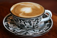 My Cappuccino (thewanderingeater) Tags: nyc morning breakfast manhattan cappuccino tribecca lacolombe