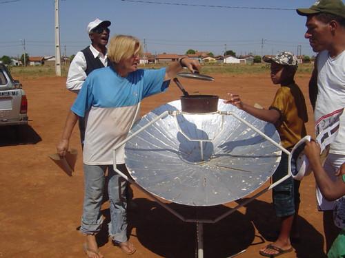 Curiosidade no fogão solar