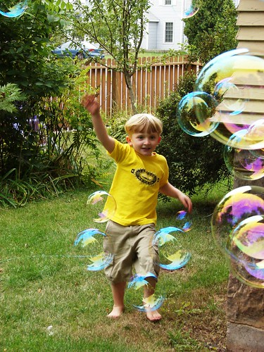 Quinny with bubble maker