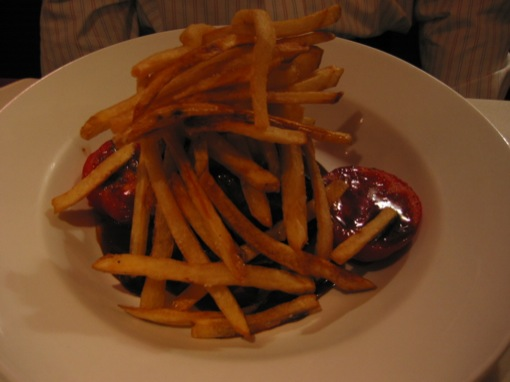 steak and fries at jerichos