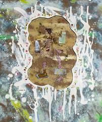 """""""La fausse note"""" 2010 (louisphilippevivien) Tags: painting paint peinture artbrut tableau peintureacrylique"""