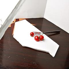 The Setup of Tomato Project (HASAN_ADEL) Tags: life red food umbrella canon project tomato studio photography one still flash saudi arabia l 450 ksa 24105     450d