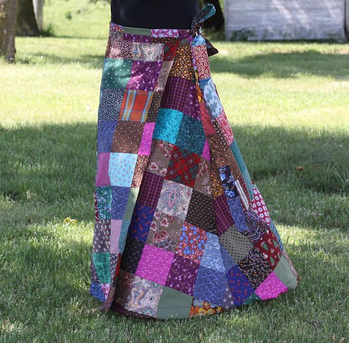 Hippie Patchwork Wrap Skirt