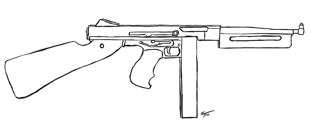 One Line Art Gun : The world s best photos of submachine and wwii flickr