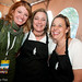 Sommelier Ali Carscaden with wine stewards Stacy Miller and Dory Tonini