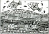 Leaping fish (dots 'n' doodles) Tags: fish black pen doodle aceo zentangle
