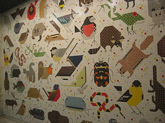 Charley Harper mural (heroine_chic) Tags: building john mural weld peck harper federal charley