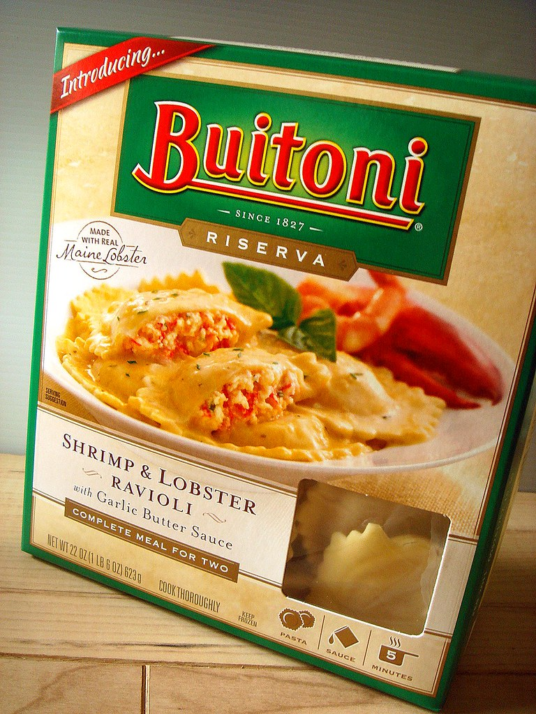 Buitoni Shrimp & Lobster Ravioli with Garlic Butter Sauce
