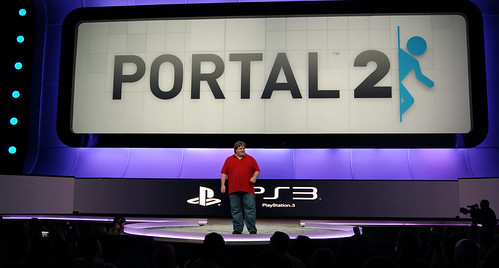 Gabe Newell for Portal 2 at E3 2010