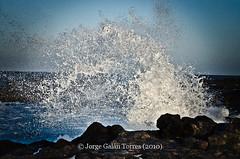 JGT003 (Jorge Galán Torres) Tags: sea costa naturaleza color muro blanco nature azul wall landscape mar fuerteventura wave paisaje canarias roca ola marea rompiente