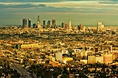on pins and needles (Andy Kennelly) Tags: california skyline drive la los downtown view angeles 101 kobe hollywood freeway playoffs nba lakers mulholland champ