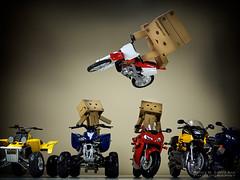 072/365:  Danbo Dirt Bike Jump! (Randy Santa-Ana) Tags: toys jump motorcycle stunt danbo gf1 project365 hondacr250r danboard minidanboard minidanbo 365daysofdanbo