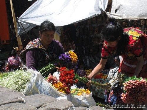 Guatemalan Women Selling Flowers