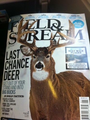 What Im reading on the plane: Field & Stream Last Chance Deer #deerhunting whitetail deer hunting blog deer hunting magazines