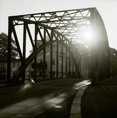 crossed a hundred times (fluffisch) Tags: bridge film analog leipzig hasselblad across cf planar 80mm waytoschool schleussig fluffisch 04229 ernstmey