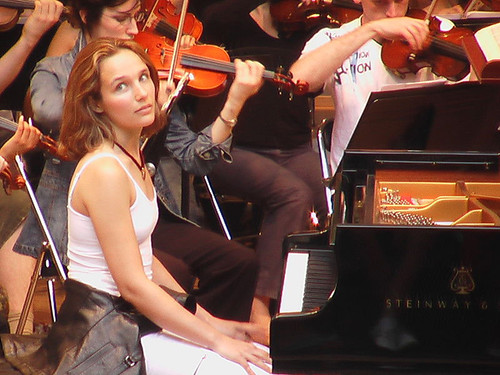 Grimaud at piano