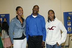 Basketball Stars Paris Johnson, Tyrone Shelley and Precious Robinson (sandiegohoc) Tags: paag