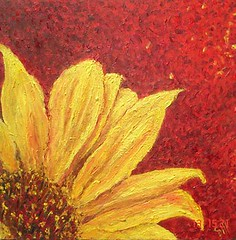 Sun Flower (Shubnum Gill) Tags: red music woman india flower colour art me girl yellow painting circle golden women asia searchthebest delhi indian stroke canvas painter sunflower oil classical intimate gill feminist newdelhi insecurity hindustani indianwomen anawesomeshot shubnum superbmasterpiece shubnumgill platinumheartaward wwwshubnumgillcom