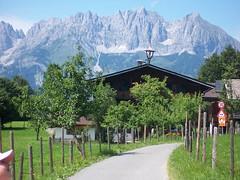 Wilder Kaiser Mountains from Kitzbuhel, Austria