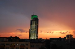 (ewewlo) Tags: city sunset sky clouds geotagged nikon europe poland warsaw d40 geo:tool=gmif geo:lat=52235343 geo:lon=20982642