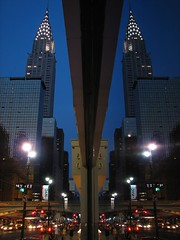 (*LML*) Tags: newyorkcity reflection nightimages manhattan chryslerbuilding mirrorimage