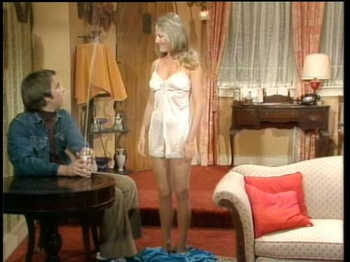 Roper's niece, Karen, seduces Jack (John Ritter)