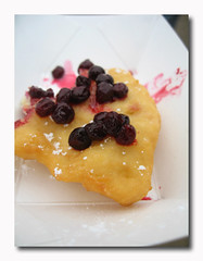 fry bread with Huckleberries
