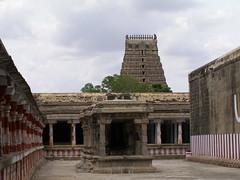 panoramic view of gopuram of kanchi temple (pallav moitra) Tags: beach temple tamil nadu kanchipuram mamalapuram