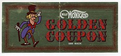 Willy Wonka Golden Coupon