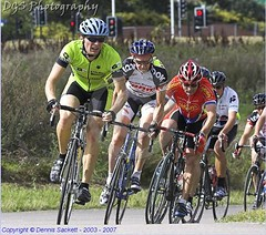 At the front, Hillingdon Cat 4 race, 1 September 2007