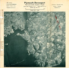Devonport Map Dec 1941 (Photo) (Plymouth Libraries) Tags: cornwall map aircraft nazi plymouth aerial devon photograph german target bomb blitz bombing reich devonport secondworldwar stonehouse luftwaffe plymstock saltash torpoint