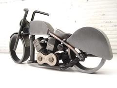 Bike 143 Harley sculpture